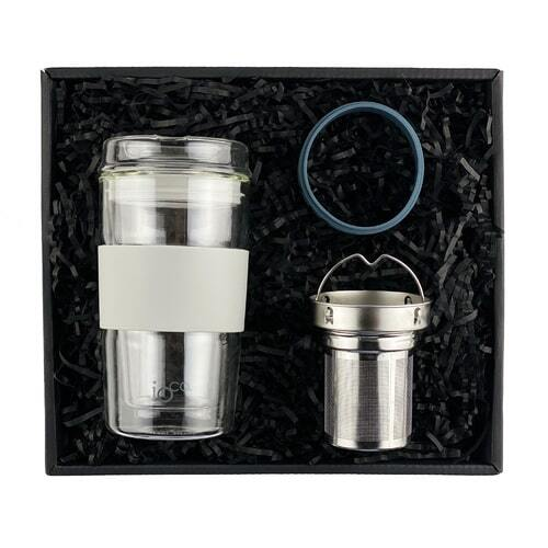 IOco Traveller Gift Pack - 12oz Warm Latte | Tea Infuser | Midnight Blue Seal