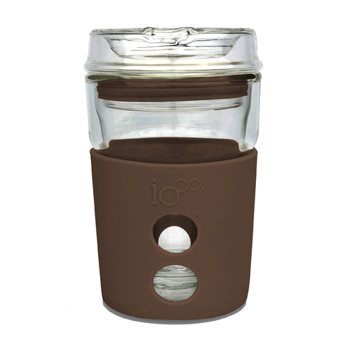 IOco 4oz Piccolo ALL GLASS Coffee Traveller - Mocha