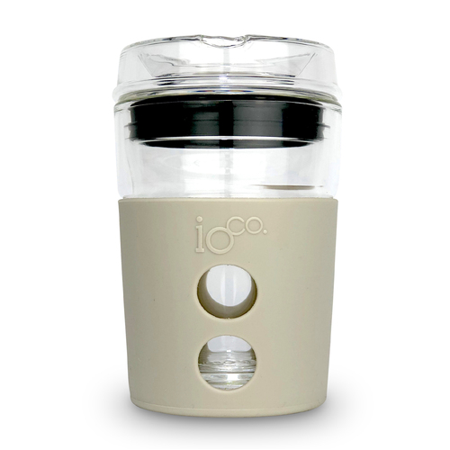 IOco 8oz ALL GLASS Coffee Traveller - Latte | Midnight Blue Seal