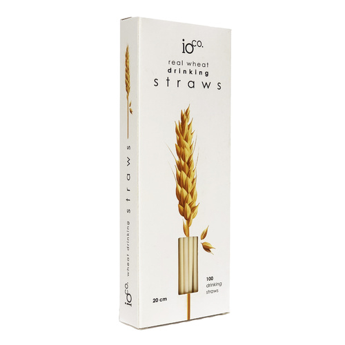 IOco Real Wheat Straws. Size 20cm - 100 pack